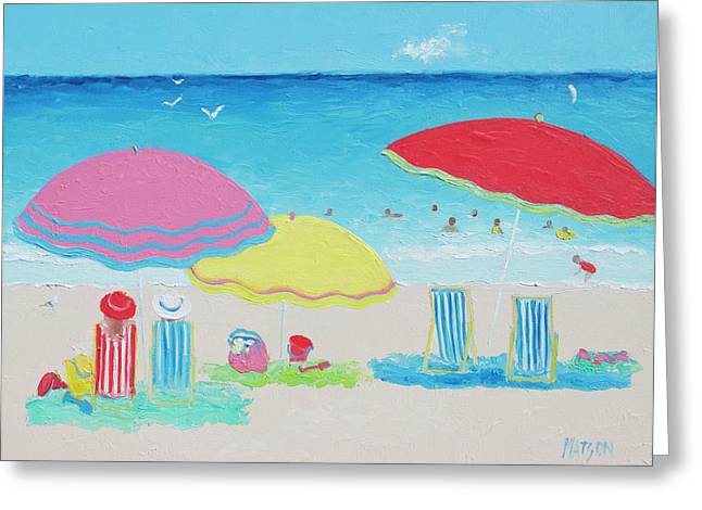 Beach Painting Summer Days Greeting Card by Jan Matson