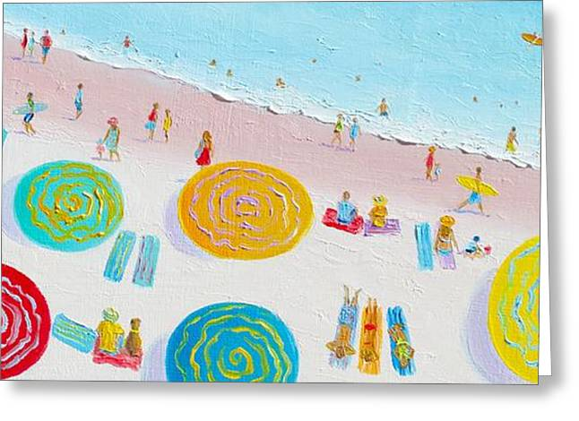Beach Greeting Cards - Beach Painting - The Simple Life Greeting Card by Jan Matson