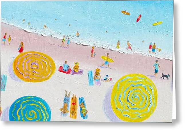 Ocean Art. Beach Decor Greeting Cards - Beach Painting - The Simple Life Greeting Card by Jan Matson