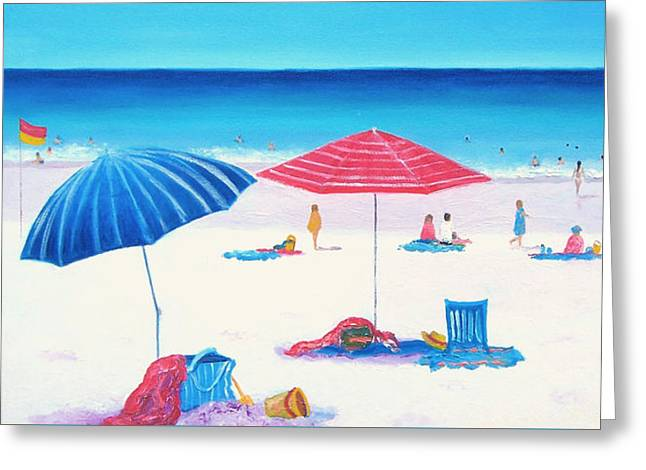 Ocean Art. Beach Decor Paintings Greeting Cards - Beach Painting Those summer days Greeting Card by Jan Matson