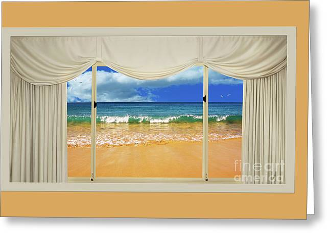 Beach Paradise From Your Home Or Office By Kaye Menner Greeting Card by Kaye Menner