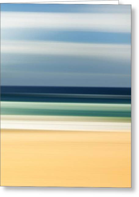 Blurred Greeting Cards - Beach Pastels Greeting Card by Az Jackson
