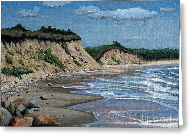 Sand Dunes Paintings Greeting Cards - Beach Greeting Card by Paul Walsh