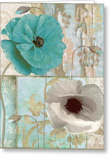 Ecru Greeting Cards - Beach Poppies II Greeting Card by Mindy Sommers