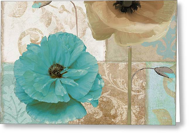 Beach House Paintings Greeting Cards - Beach Poppies Greeting Card by Mindy Sommers