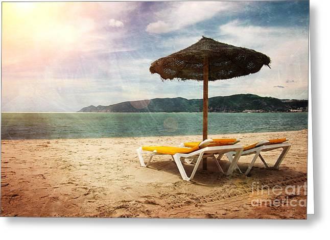 Beach Shader Greeting Card by Carlos Caetano
