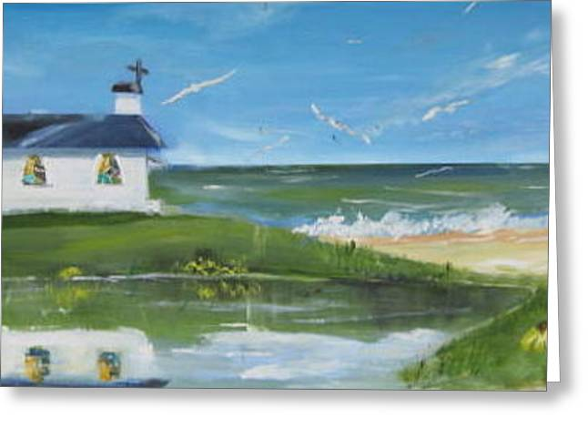 Best Sellers -  - Large Scale Greeting Cards - Beach side church Greeting Card by Terrence  Howell