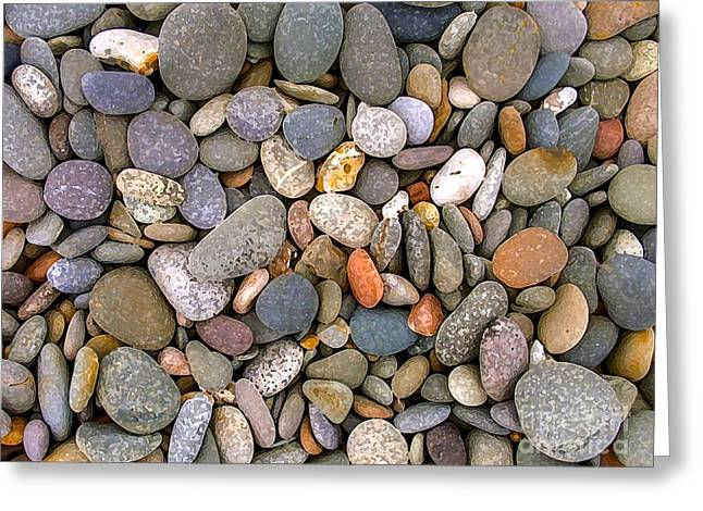 Stones Greeting Cards - Beach Stones And Pebbles Greeting Card by Sophie De Roumanie