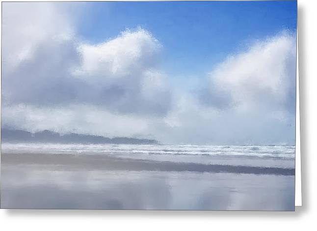 Resurrection Digital Greeting Cards - Beach Study Greeting Card by LC Bailey