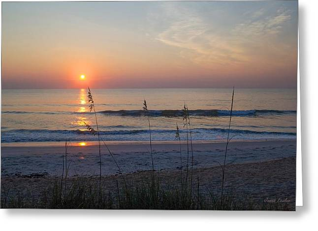 Reflection In Water Greeting Cards - Beach Sunrise A1 Greeting Card by James Fowler