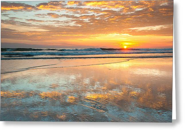 Cape Hatteras Greeting Cards - Beach Sunrise - Cape Hatteras National Seashore North Carolina Greeting Card by Mark VanDyke