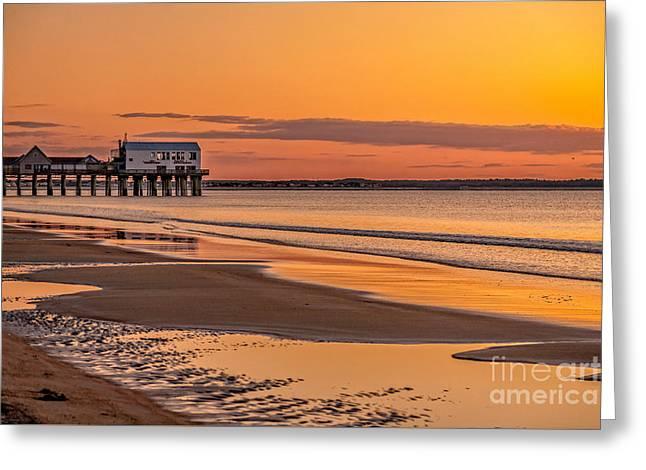 Maine Beach Greeting Cards - Beach sunrise Greeting Card by Gene Healy