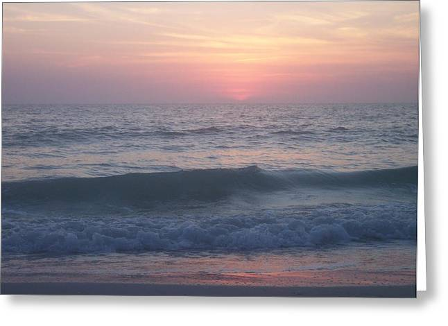 Anna Villarreal Garbis Greeting Cards - Beach Sunset 1 Greeting Card by Anna Villarreal Garbis