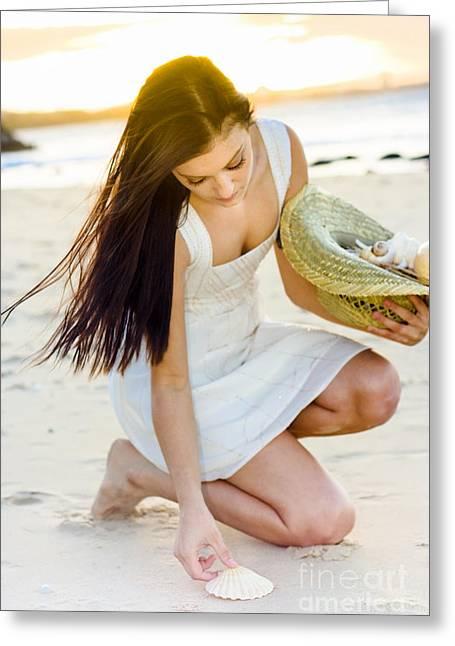Sleeveless Greeting Cards - Beach Sunset Greeting Card by Ryan Jorgensen