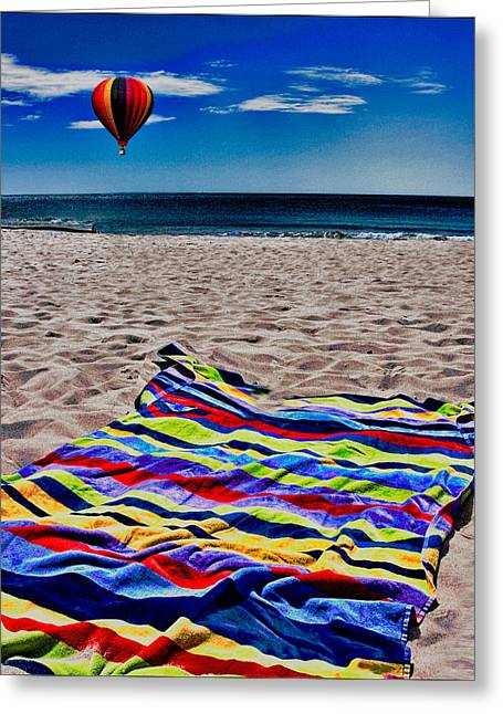 Beach Towel Greeting Cards - Beach Towel Greeting Card by Chris Lord