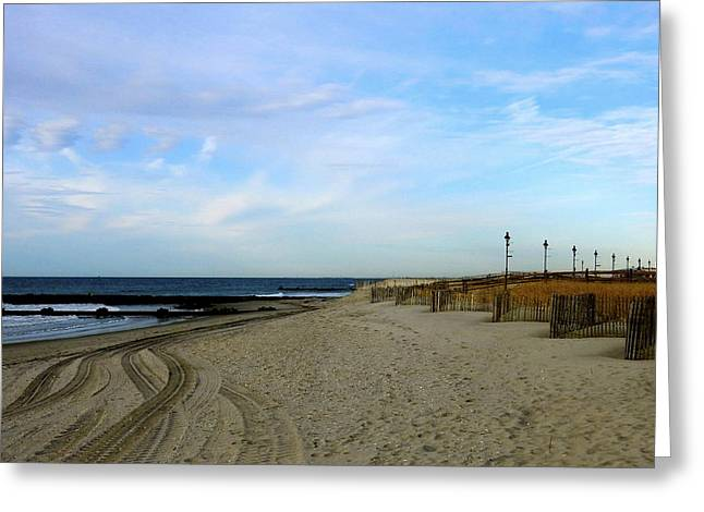 My Ocean Greeting Cards - Beach Tracking Greeting Card by My Lens and Eye   - Judy Mullan -