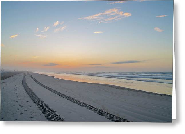 Beach Tracks Greeting Card by Bill Cannon