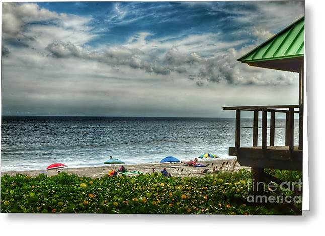 Beach Photography Greeting Cards - Beach Umbrellas Greeting Card by Glenn Forman