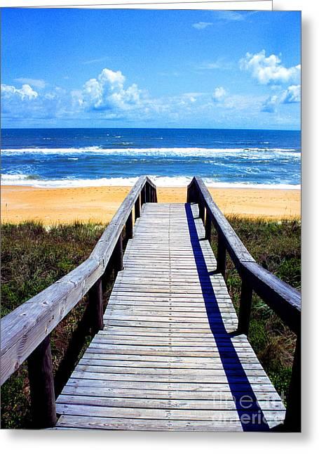 Flagler Greeting Cards - Beach View Greeting Card by Thomas R Fletcher