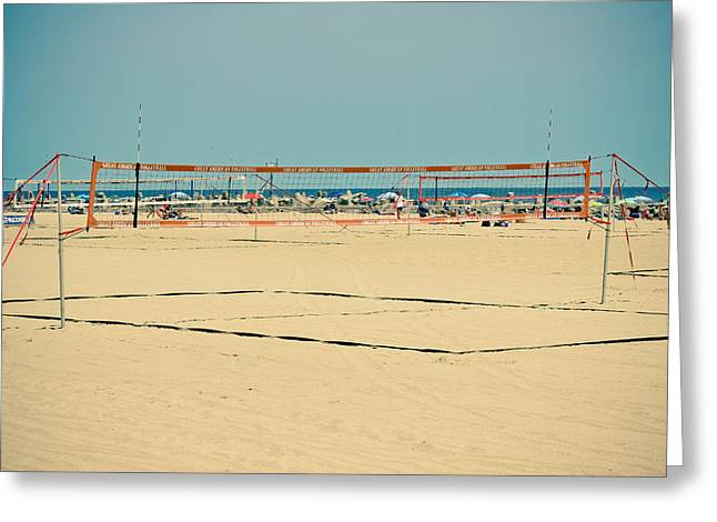 Ocean Photography Greeting Cards - Great American Volleyball Greeting Card by Colleen Kammerer