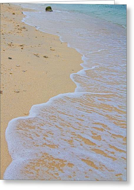 Striking Images Greeting Cards - Beach Water Curves Greeting Card by James BO  Insogna