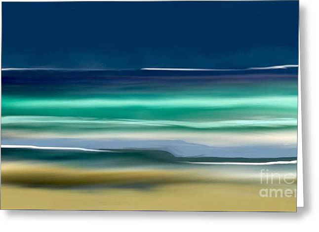 Beach Wave Greeting Card by Anthony Fishburne