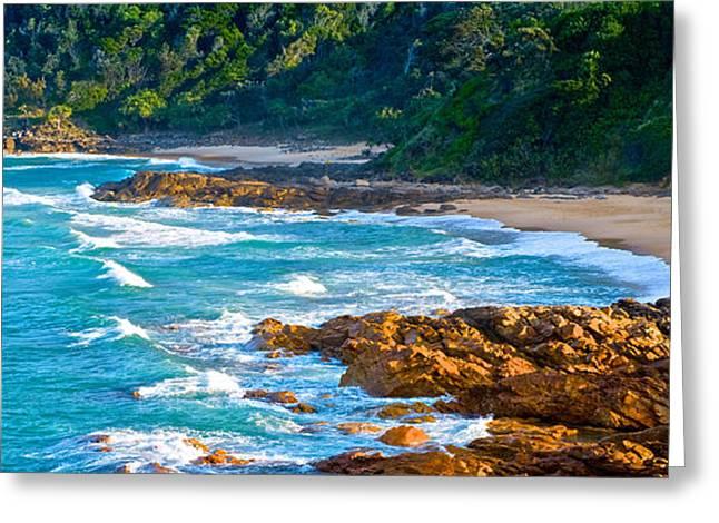 Panoramic Ocean Greeting Cards - Beach Wedding Greeting Card by Paul Doody