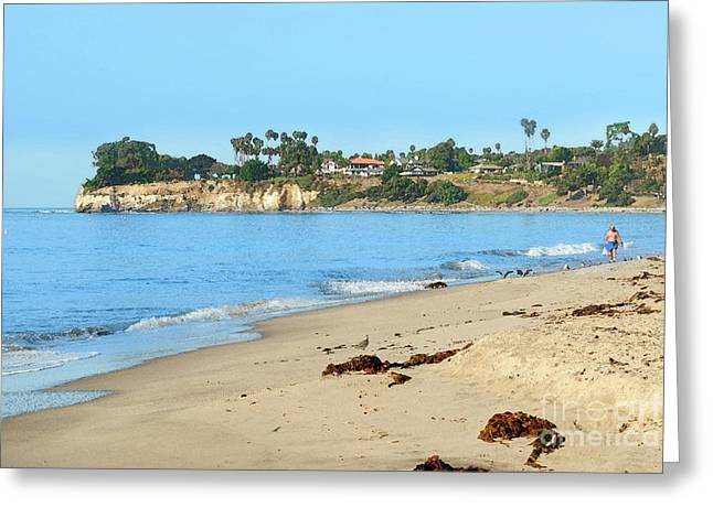 Beachcomber Greeting Card by Betty LaRue