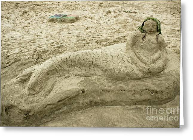 Beached Mermaid Greeting Card by Colleen Kammerer