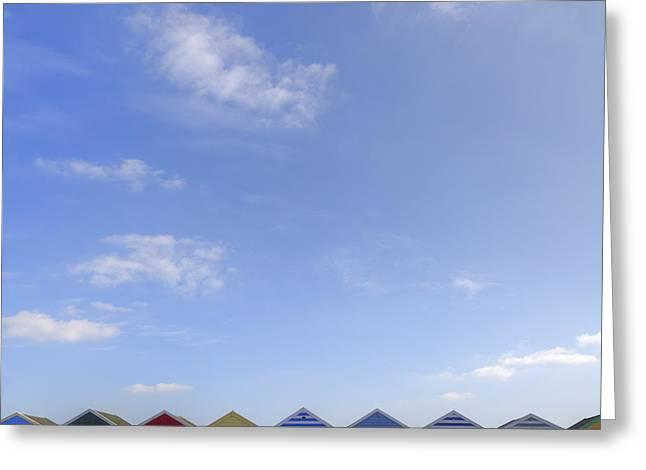 Beachhuts Greeting Card by Joana Kruse