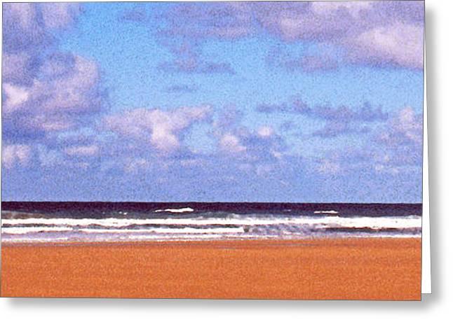 Kite Greeting Cards - Beachscape 8 Greeting Card by Paul Adamson