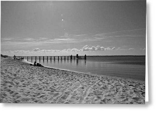 Fun Image Greeting Cards - Beachscape Getaway Greeting Card by Betsy A  Cutler
