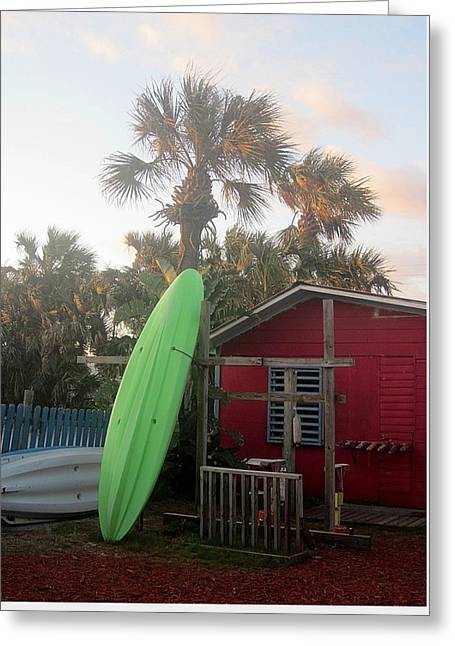Recently Sold -  - Shack Greeting Cards - Beachside Shack Greeting Card by Pattie Frost
