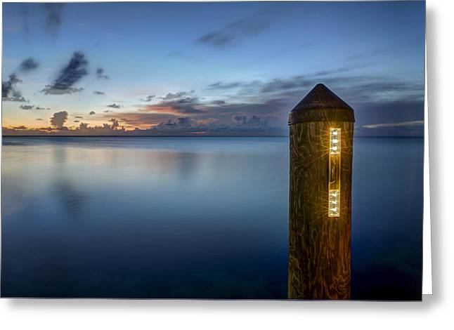 Ocean Shore Greeting Cards - Beacon Greeting Card by Al Hurley
