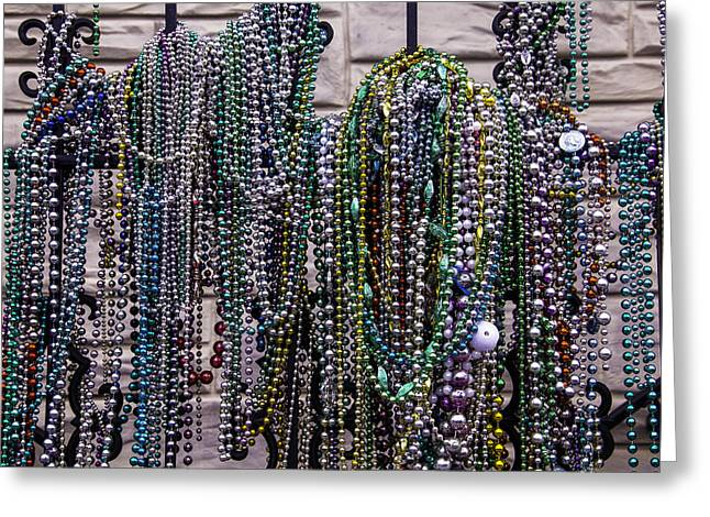 Nola Photographs Greeting Cards - Beads On Iron Wrought Fench Greeting Card by Garry Gay