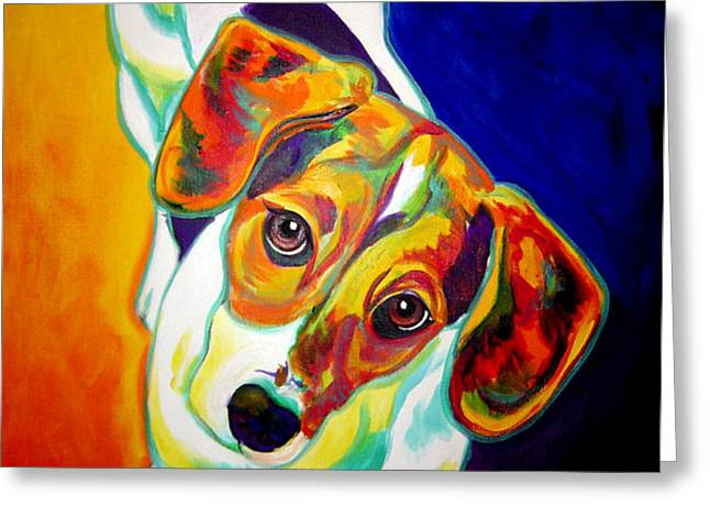 Beagle - Scooter Greeting Card by Alicia VanNoy Call