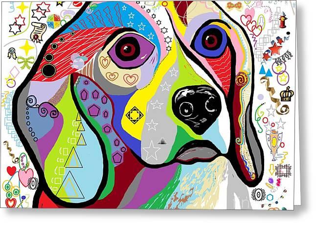 Beagle Greeting Card by Eloise Schneider