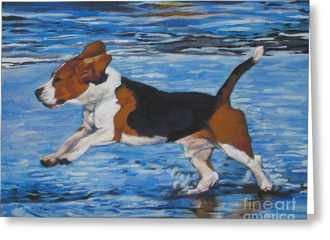 Beagle Greeting Cards - Beagle Greeting Card by Lee Ann Shepard