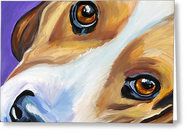 Beagle Paintings Greeting Cards - Beagle Greeting Card by Melissa Smith