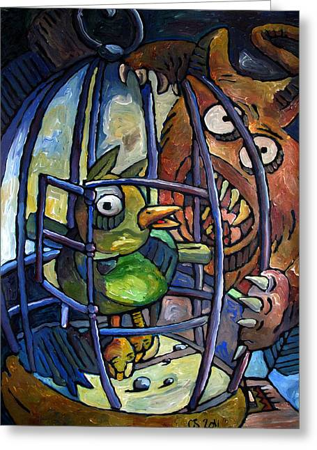 Reaping Greeting Cards - BEAK and CLAW Greeting Card by Charlie Spear
