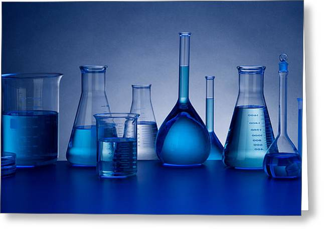 Different Greeting Cards - Beakers Greeting Card by John Wong
