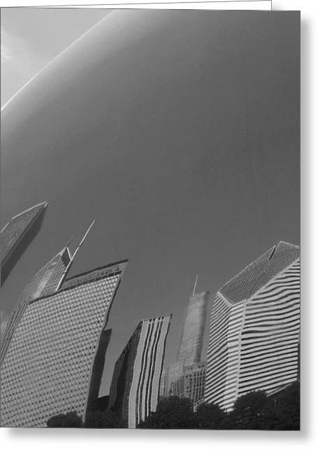 The Bean Greeting Cards - Bean Distortions B n W Greeting Card by Richard Andrews