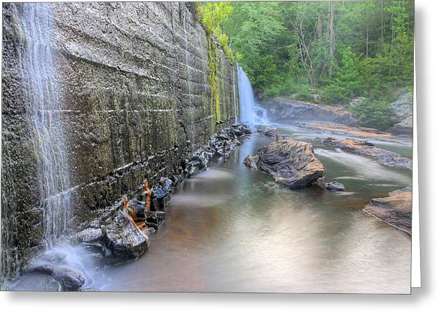 Saw Greeting Cards - Beans Mill Dam on Halawaka Creek Greeting Card by JC Findley