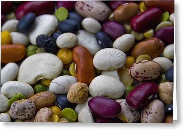 Beans Of Many Colors Greeting Card by LeeAnn McLaneGoetz McLaneGoetzStudioLLCcom
