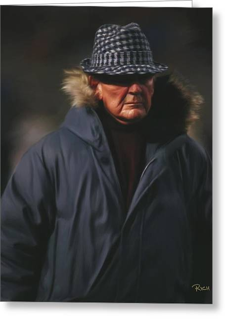 Bear Bryant Alabama Football Head Coach 02 Greeting Card by Rich image
