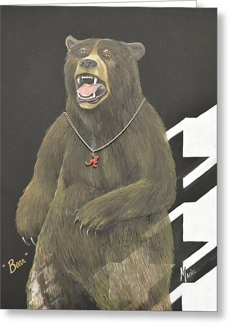 Bear Bryant Metaphor Greeting Card by Alex Maciel