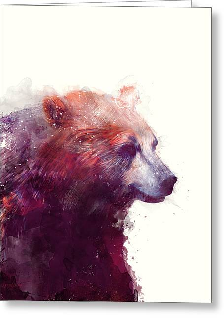 Bear // Calm Greeting Card by Amy Hamilton