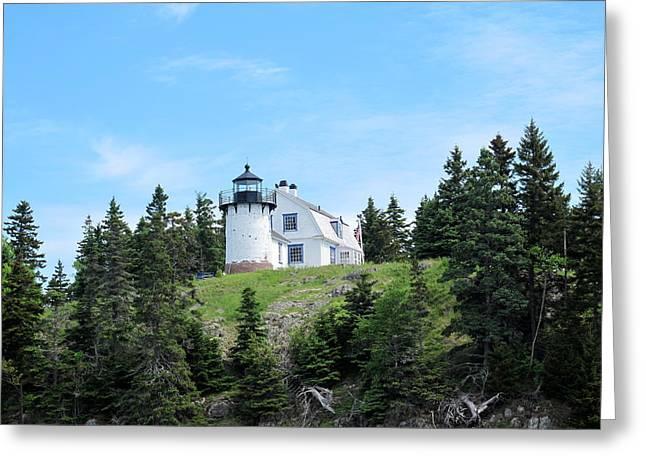 Bear Island Lighthouse Greeting Cards - Bear Island Lighthouse 1 Greeting Card by Cindy Kellogg