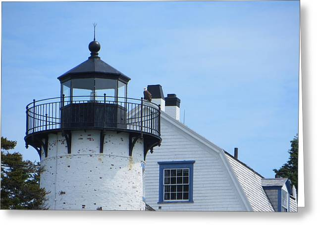 Historic Site Greeting Cards - Bear Island Lighthouse 2 Greeting Card by Cindy Kellogg