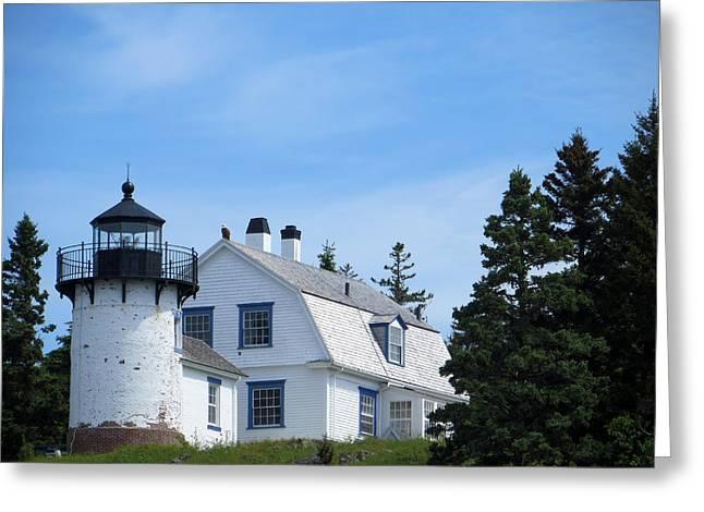 Bear Island Lighthouse Greeting Cards - Bear Island Lighthouse Greeting Card by Cindy Kellogg